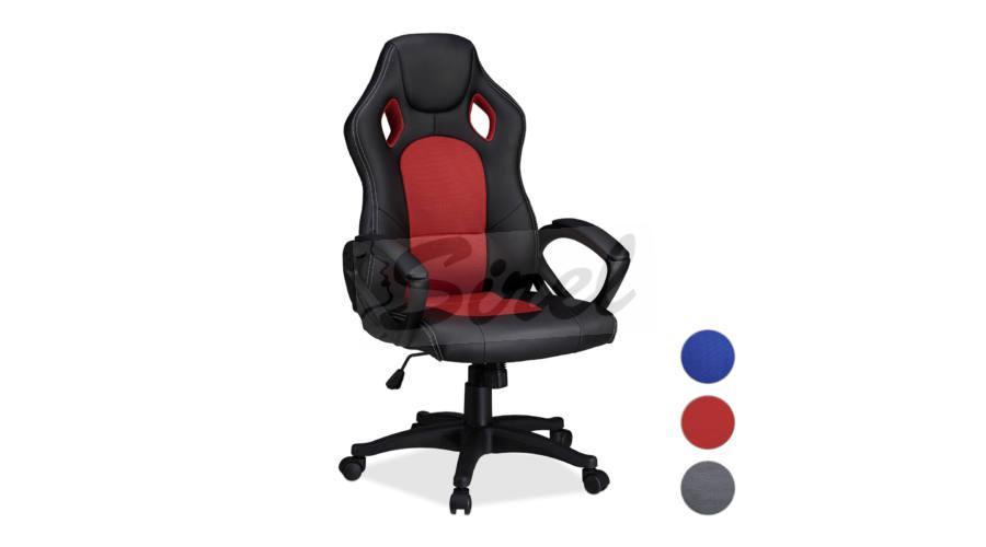 Gamer stolička v 3 farbách Šedá