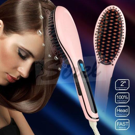Elektrická kefa na vyrovnanie a úpravu vlasov s LCD displejom ... 0bbbc398f32