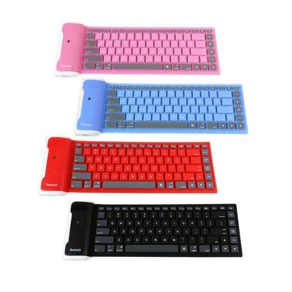 R8 CCC86 Bluetooth silikónová klávesnica Modrá
