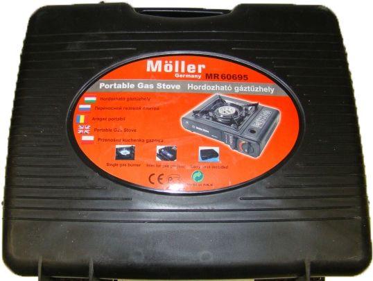 Prenosný plynový kempingový varič v kufríku