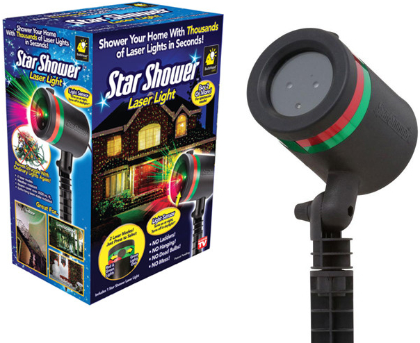 Laserový vianočný projektor Star show