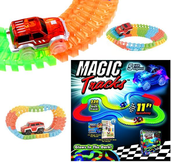 Wiky Magic Tracks Čarovná svietiaca autodráha 220 ks