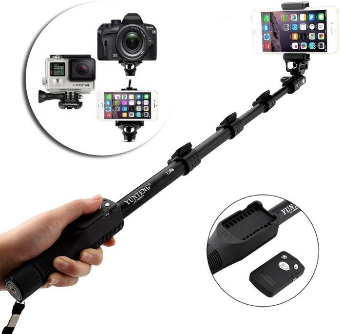 Selfie Maker BestMaker - Bluetooth teleskopická selfie tyč, Black