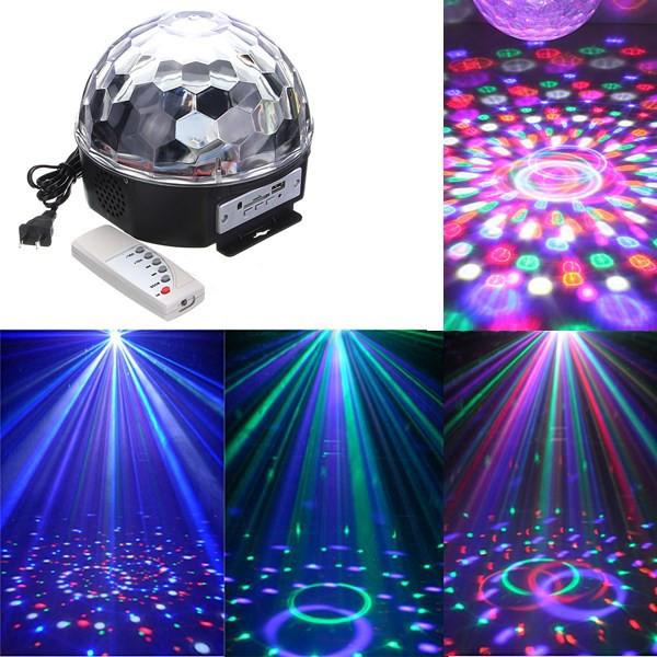 Jenifer LED disko guľa, 6x3W, RGBV, USB, SERVO, MP3 s diaľkovým ovládaním