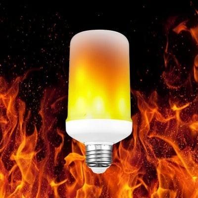R8 E27 LED žiarovka, PLAMEŇ 7W Teplá biela