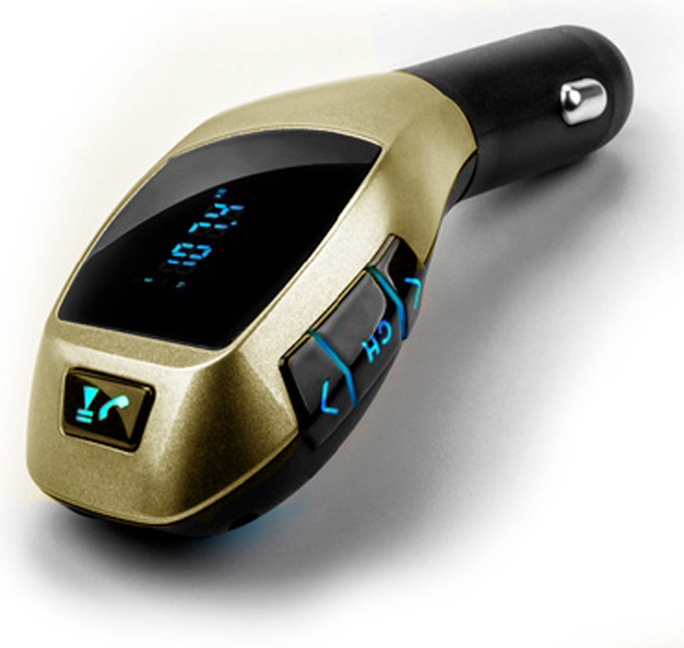 R8 Gamer 1598-gold X6 FM transmitter Bluetooth  zlatá