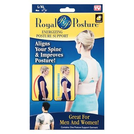 Royal Posture Bandáž pre správne držanie chrbta čierna