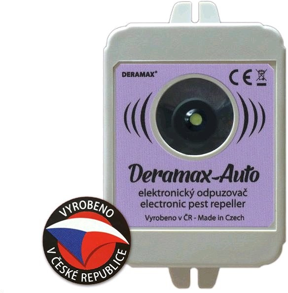 Deramax Ultrazvukový odpuzovač plašič kun a hlodavců do auta Auto