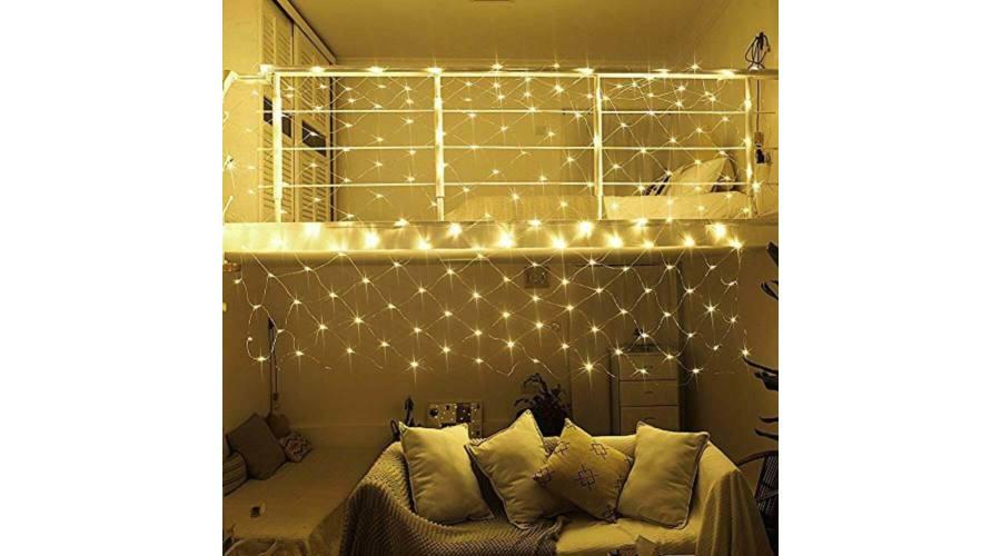 R8 LED svetelná sieť 128 LED tepla biela  RG-988-2