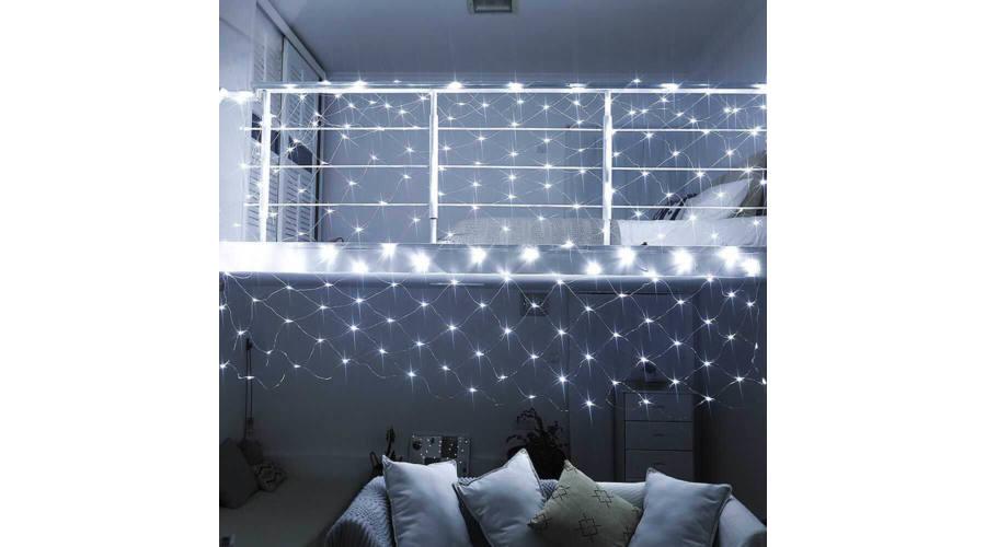 R8 LED svetelná sieť 128 LED studená biela RG-988-1