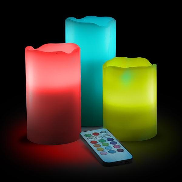 LED sviečky 3 ks s diaľkovým ovládaním