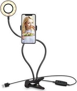 R8 Selfie držiak na telefón s LED prisvietením