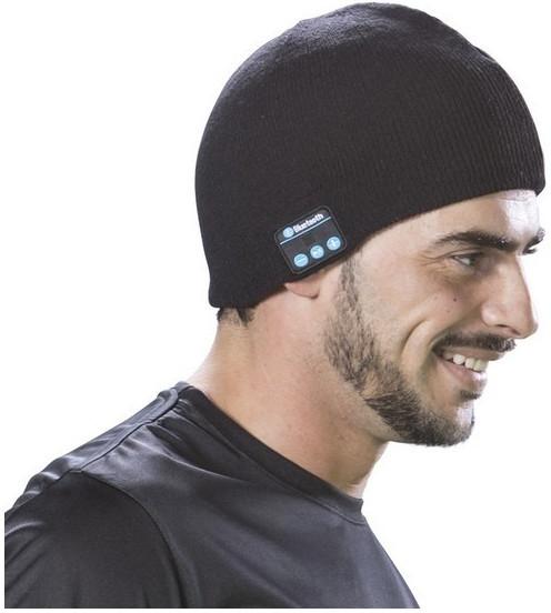 športová čiapka s bluetooth čierna