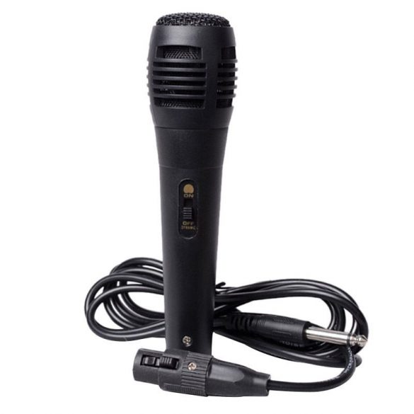 R8 Karaoke mikrofón čierny