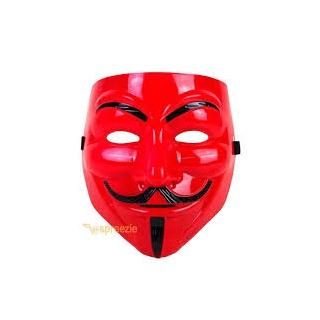 Maska anonymous červená