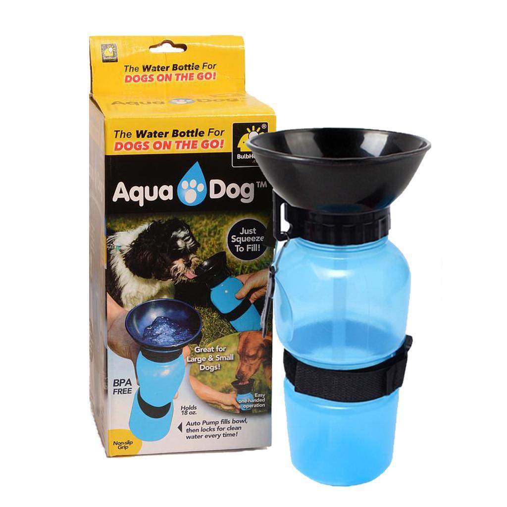 AQUA DOG Prenosná flaša s miskou pre psa