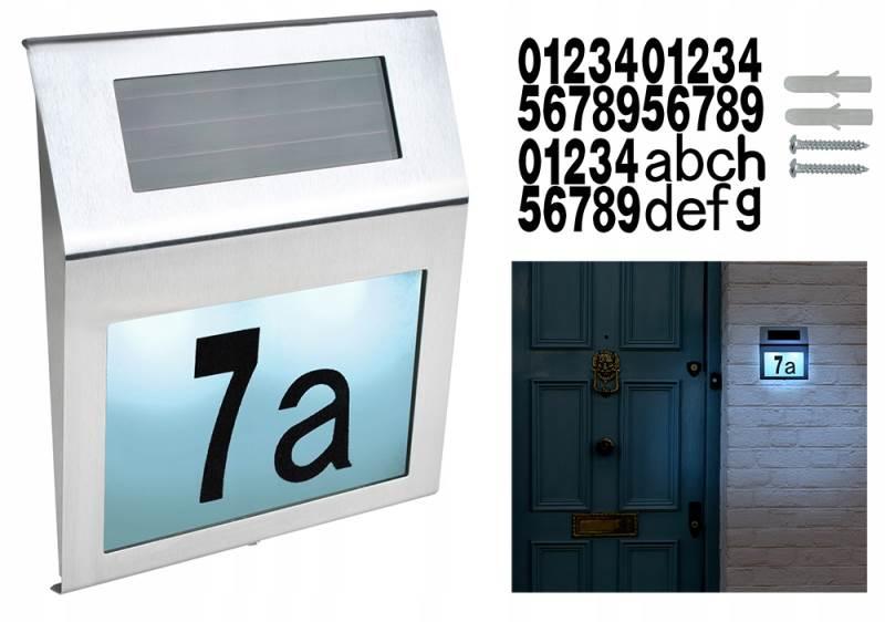 Verk 01504 Solárne osvetlenie domového čísla 18 x 20 cm
