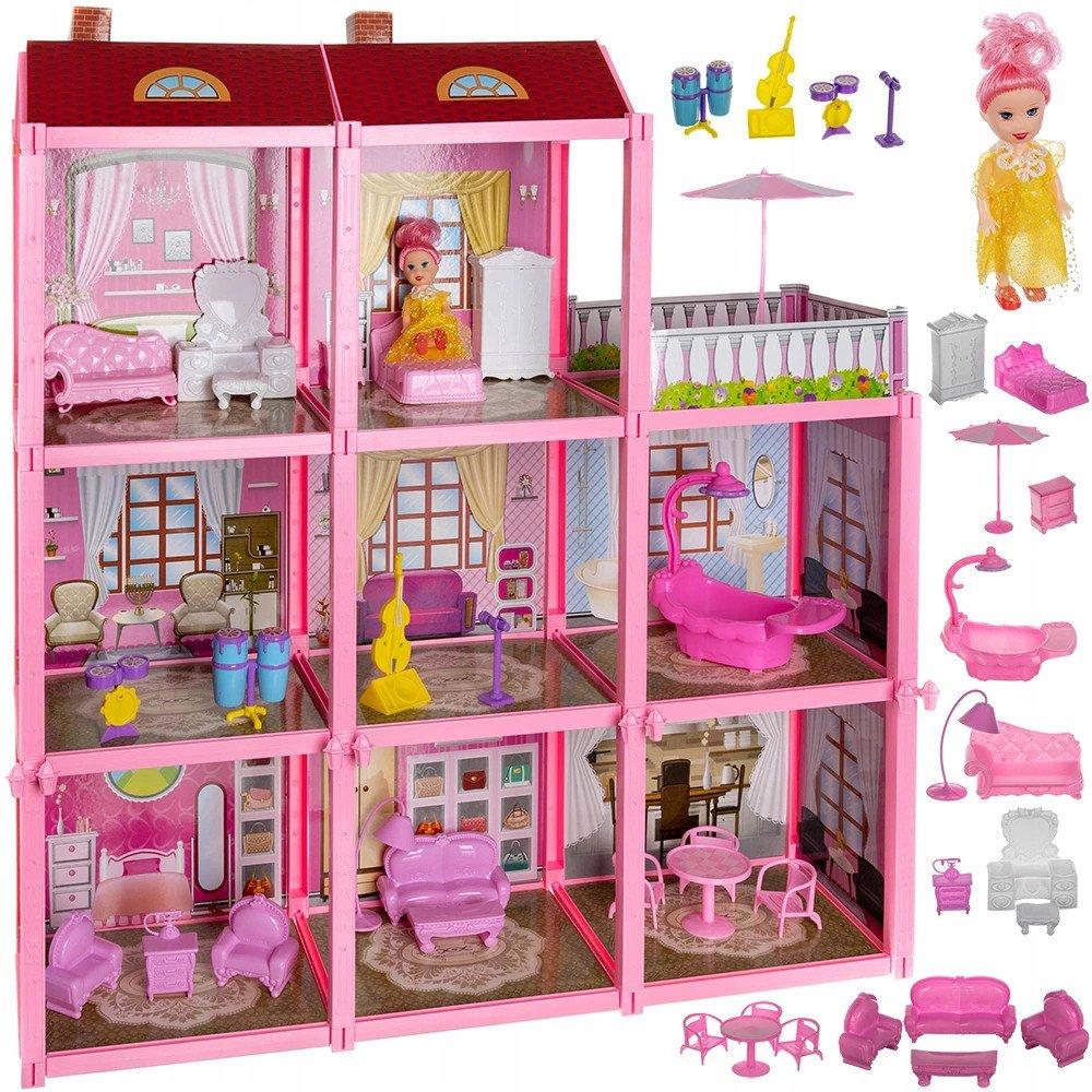 ISO Plastový domček pre bábiky s bábikou a príslušenstvom