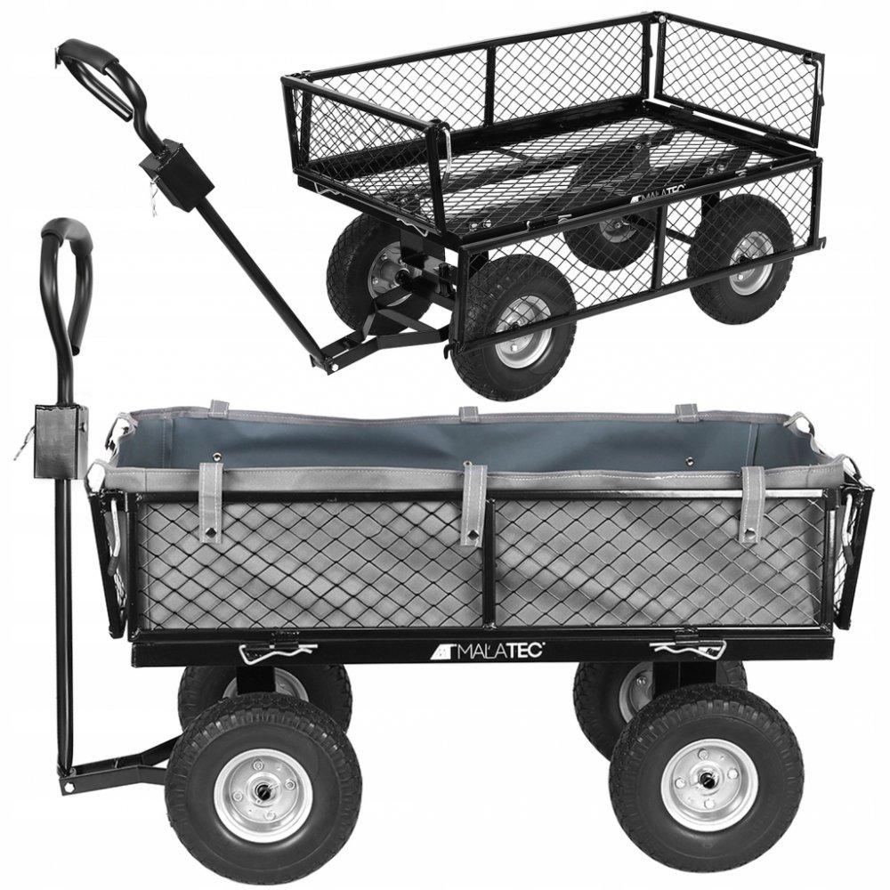 Prepravný vozík Malatec 9038 Záhradný s výklopnými bokmi