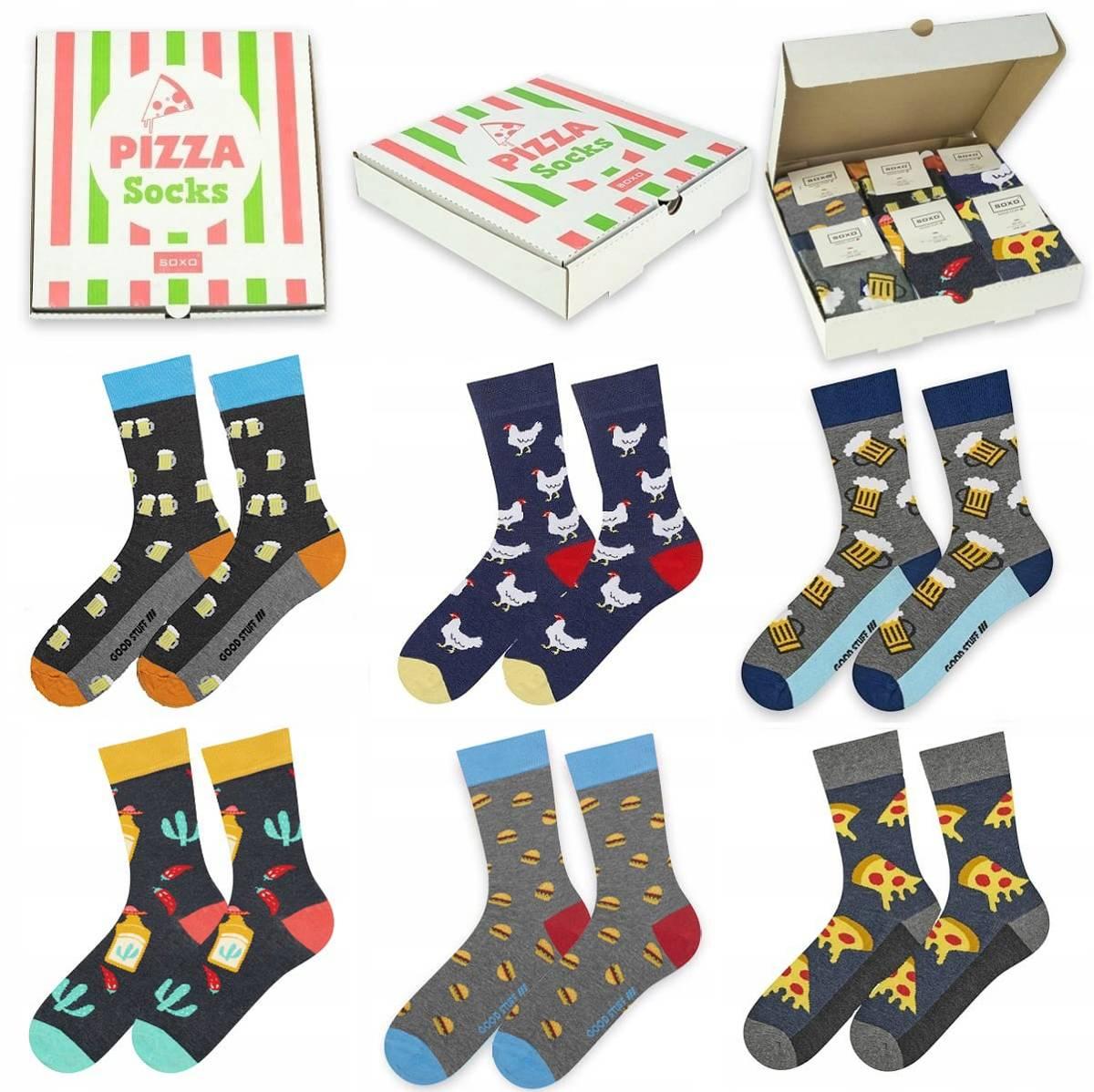Soxo pizza socks 6KS pánske