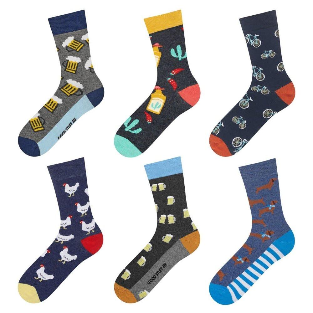 SOXO - Set pánskych veselých ponožiek 6 párov