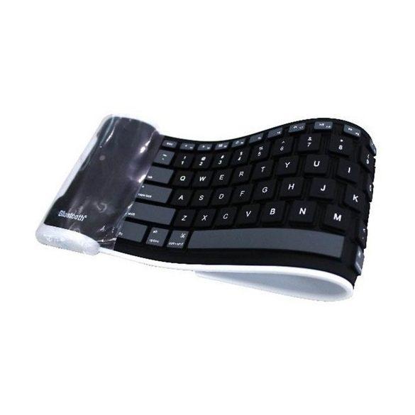 R8 CCC86 Bluetooth silikónová klávesnica Čierna