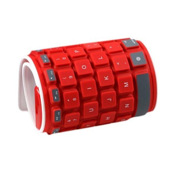 R8 CCC86 Bluetooth silikónová klávesnica Červená