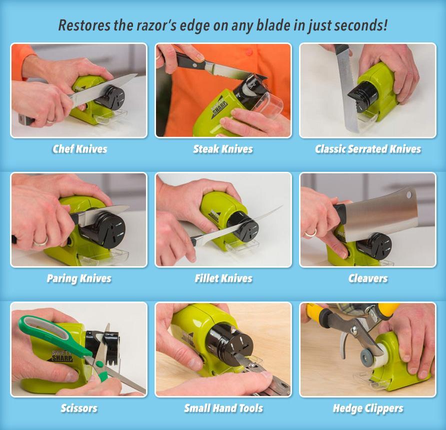 Elektrická brúska Swift Sharp - Nielen na nože a nožnice.