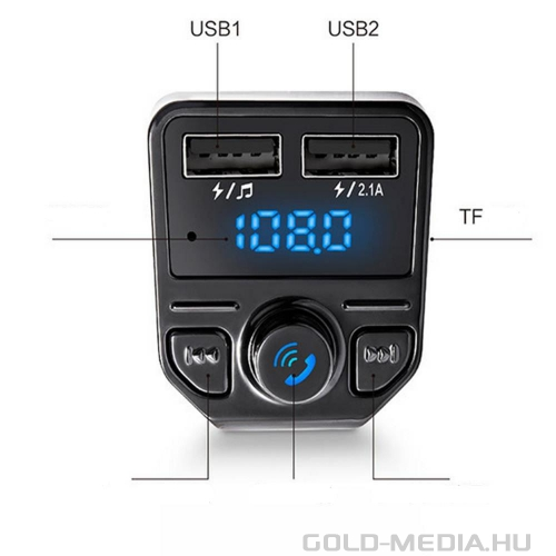 X1-Bluetooth FM Transmitter