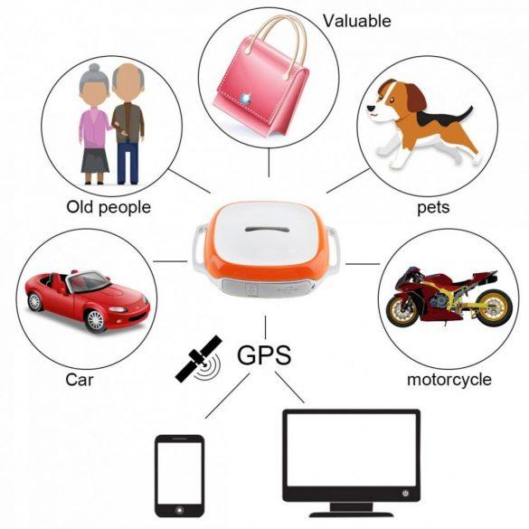 R8 GT011 GPS Tracker biely
