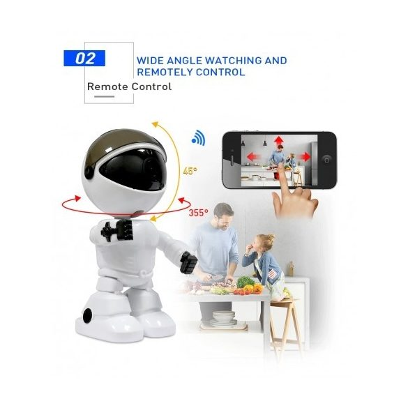 R8 R003 ROBOT WIFI IP KAMERA BIELY