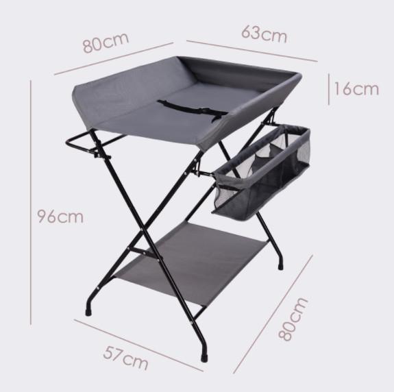 R8 MA1 skladací prebaľovací stolík - sivá